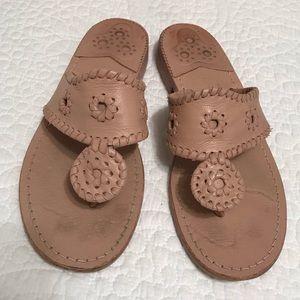 Nude Jack Rogers Sandals
